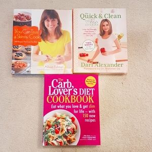 Healthy/diet Book Lot (with recipes)